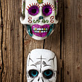 Two Skull Masks by Garry Gay