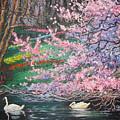 Two Swans by Cynthia Sorensen