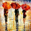 Umbrellas by Leonid Afremov