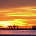 Union Reservoir Sunrise Feb 17 2011 Canvas Print by James BO Insogna