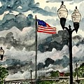 United States Flag Over Alabama by Derek Mccrea