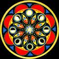 Universal Light  Mandala by Pam Ellis