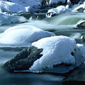 Upper Provo River In Winter by Dennis Hammer