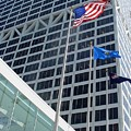 Us Bank With Flags by Anita Burgermeister