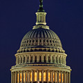 U.s. Capitol At Night by Nick Zelinsky