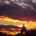 U.s. Capitol Dome At Sunset by Rod Ismay