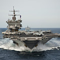 Uss Enterprise Transits The Atlantic by Stocktrek Images