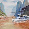 Uss San Pablo On Yangtze River Patrol by Glenn Secrest