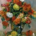 Vase Of Flowers by Pierre Auguste Renoir