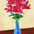 Vase Of Red Roses by Rodney Campbell