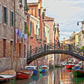 Venice Bridge Crossing 5 by Heiko Koehrer-Wagner