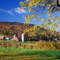 Vermont Farm In Autumn by John Burk
