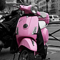 Vespa In Pink by Edward Myers