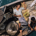Vietnam Boat Refugees by Carl Purcell