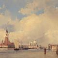 View In Venice With San Giorgio Maggiore by Richard Parkes Bonington