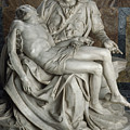View Of Michelangelos Famous Sculpture by James L. Stanfield