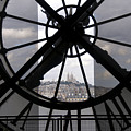 View Of Montmartre Through The Clock At Museum Orsay.paris by Bernard Jaubert
