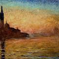 View Of San Giorgio Maggiore Venice By Twilight by Claude Monet