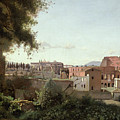 View Of The Colosseum From The Farnese Gardens by Jean Baptiste Camille Corot