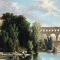 View Of The Pont Du Gard by Henri Marie Poinsot
