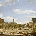 View Of The Roman Forum by Giovanni Paolo Panini