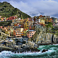 Village Of Manarola - Cinque Terre - Italy by JH Photo Service