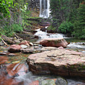 Virginia Falls - Glacier N.p. by Shari Jardina