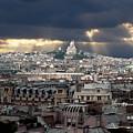 Vue De La Butte Montmartre.roofs Of Paris by Bernard Jaubert