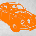 Vw Beetle Orange by Naxart Studio