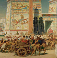 Wagons Detail From Israel In Egypt by Sir Edward John Poynter