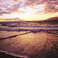 Wailea Beach At Sunset by Joe Carini - Printscapes
