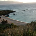 Waimea Bay And Kaiena Point by Chandelle Hazen