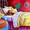 Waiting For Mom - Dachshund by Lyn Cook