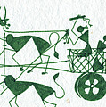 Warli Farmers In Bullock Cart by Subhash Limaye