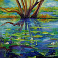 Water Lilies No 1. by Evgenia Davidov