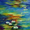 Water Lilies No 3. by Evgenia Davidov