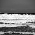 Waves 1 In Bw by Susanne Van Hulst