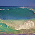 Waves And Surfer In Morning Light 2 by Bette Phelan