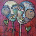 We Live With Love In Our Hearts by Laurie Maves ART