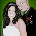 Wedding Portrait Of Clint And Ashley by Joe Michelli