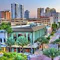 West Palm At Twilight by Debra and Dave Vanderlaan