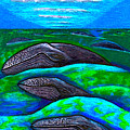 Whales In Glacier Bay  Alaska by Al Goldfarb
