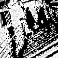 Which Way Up  -- Hand-pulled Linoleum Cut by Lynn Evenson