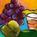 Whiskey  Pear  Grapes by Angelina Marino