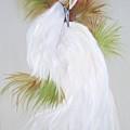 White Egret by Sherry Winkler