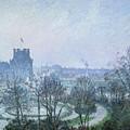 White Frost Jardin Des Tuileries by Camille Pissarro