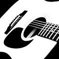 White Guitar 4 by Andee Design