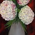 White Hydrangeas by Maria Williams