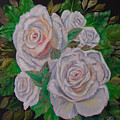 White Roses by Quwatha Valentine