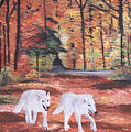 White Wolves Passing Through by Aleta Parks